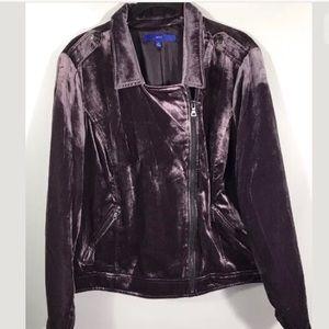 Apt 9 Light Purple Velvet Moto Jacket L XL